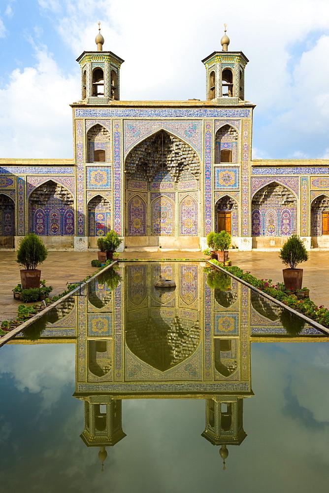 Nasir-ol-Molk Mosque (Pink Mosque) courtyard, Shiraz, Fars Province, Iran, Middle East - 1131-1404
