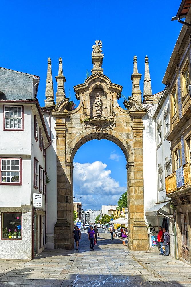 Porta Nova Arch, Braga, Minho, Portugal, Europe - 1131-1438