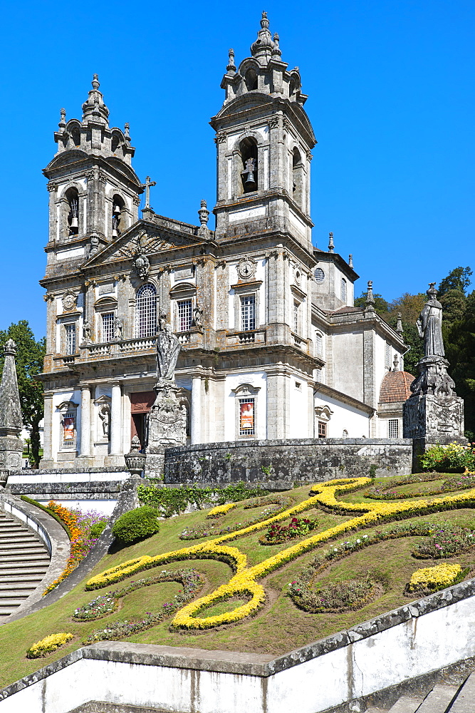 Santuario do Bom Jesus do Monte (Good Jesus of the Mount Sanctuary), Church, UNESCO World Heritage Site, Tenoes, Braga, Minho, Portugal, Europe