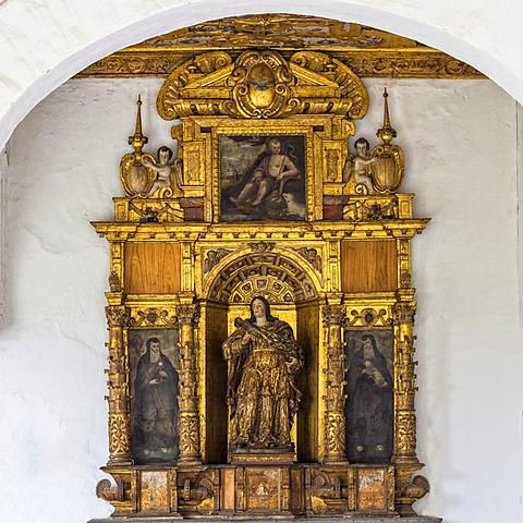San Francisco Church and Convent, Santa Lucia retable, Quito, UNESCO World Heritage Site, Pichincha Province, Ecuador, South America