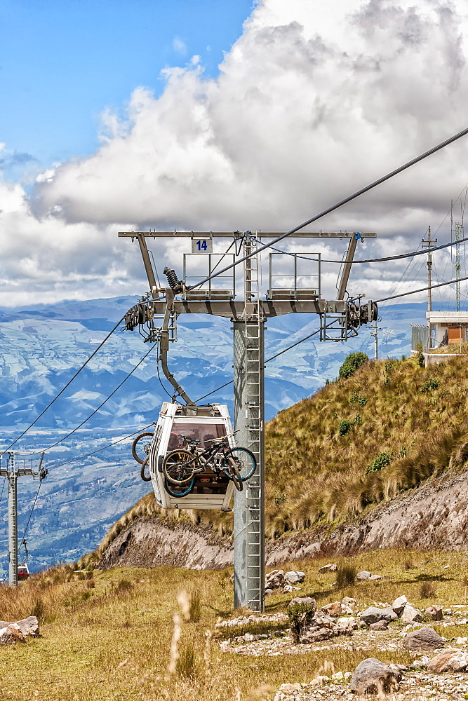Quito cable car, Pichincha Province, Ecuador, South America