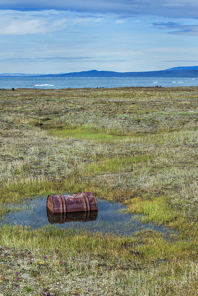 Doubtful Village, Wrangel Island, UNESCO World Heritage Site, Chuckchi Sea, Chukotka, Russian Far East, Russia, Eurasia