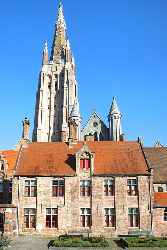 Church of Our Lady and Old Saint John Hospital, Historic center of Bruges, UNESCO World Heritage Site, Belgium, Europe