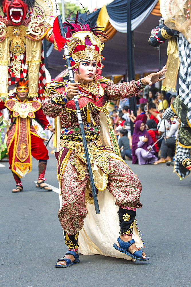 Stock photo of a dancer at Jember Fashion Festival and Carnival, East Java