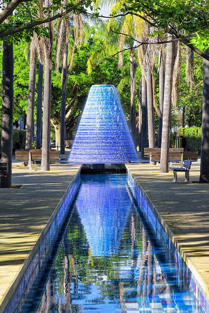 Fountain, Parque das Nacoes, Lisbon, Portugal, Europe