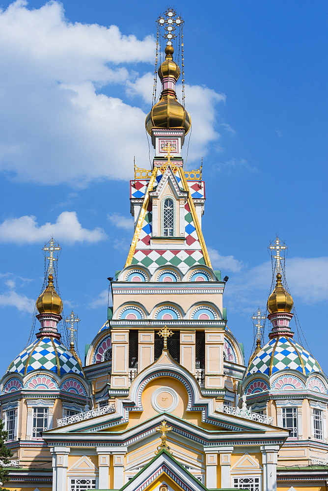Ascension Cathedral (Zenkov Cathedral), Almaty, Kazakhstan, Central Asia, Asia