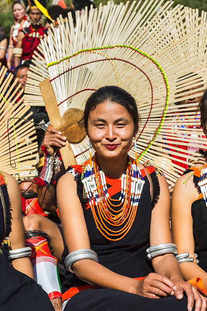 Tribes woman at the Hornbill Festival, Kohima, Nagaland, India, Asia - 1131-987