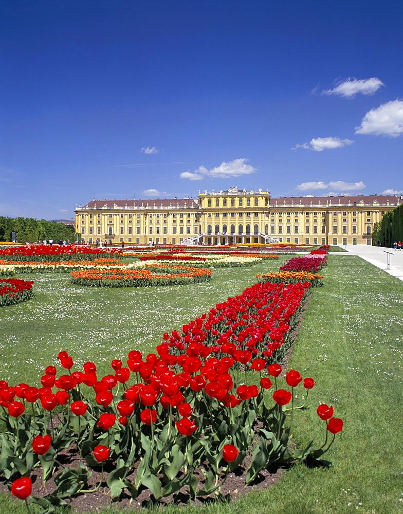 Palace and gardens, Schonbrunn, UNESCO World Heritage Site, Vienna, Austria, Europe
