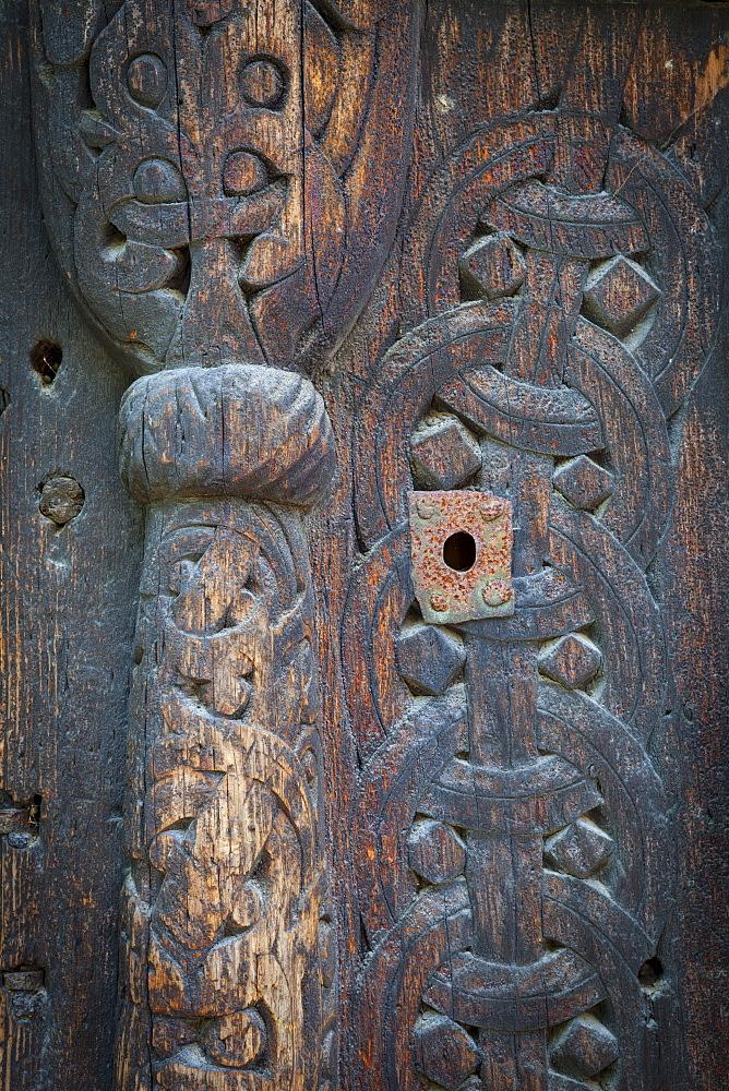 Detail of Gol Stave Church, Norwegian Folk Museum, Bygdoy Peninsula, Oslo, Norway, Scandinavia, Europe