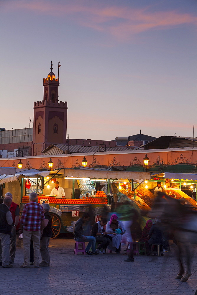Jemaa el-Fna Square, The Medina, Marrakech, Morocco, North Africa, Africa