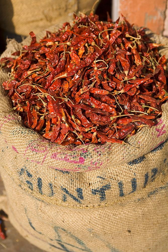 Spices, Jaipur, Rajasthan, India, Asia