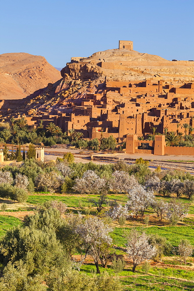 Ait Benhaddou, UNESCO World Heritage Site, Atlas Mountains, Morocco, North Africa, Africa