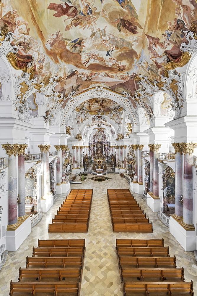 Zwiefalten Minster, Munster Unseren Lieben Frau, Zwiefalten, Upper Swabian Baroque Route, Swabian Alb, Baden Wurttemberg, Germany, Europe