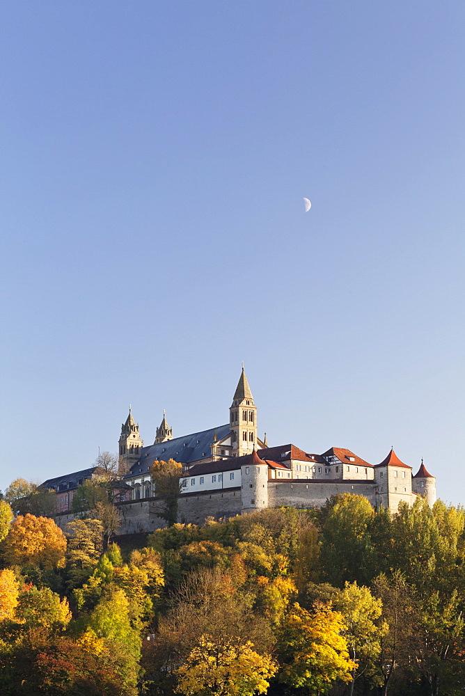 Benedictine Abbey of Kloster Grosscomburg (Comburg), Steinbach, Kochertal Valley, Schwabisch Hall District, Hohenlohe, Baden Wurttemberg, Germany, Europe