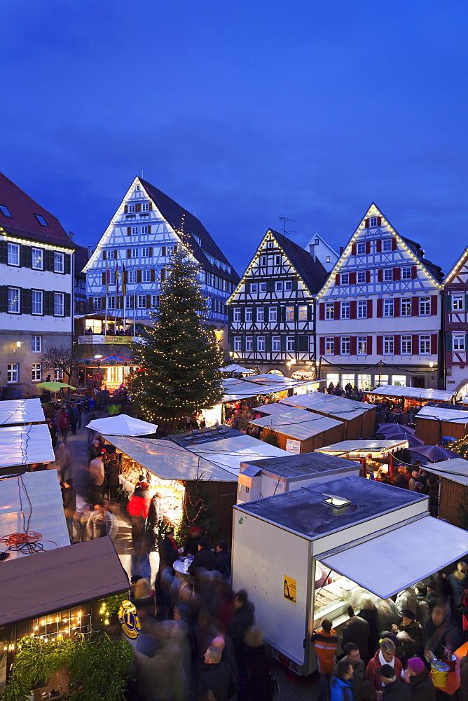 Weihnachtsmarkt in the Marktplatz, Herrenberg, Baden Wurttemberg, Germany, Europe