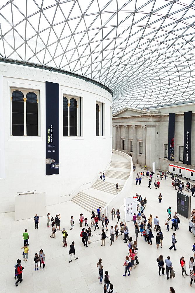 Great Court, architect Norman Foster, British Museum, Bloomsbury, London, England, United Kingdom, Europe