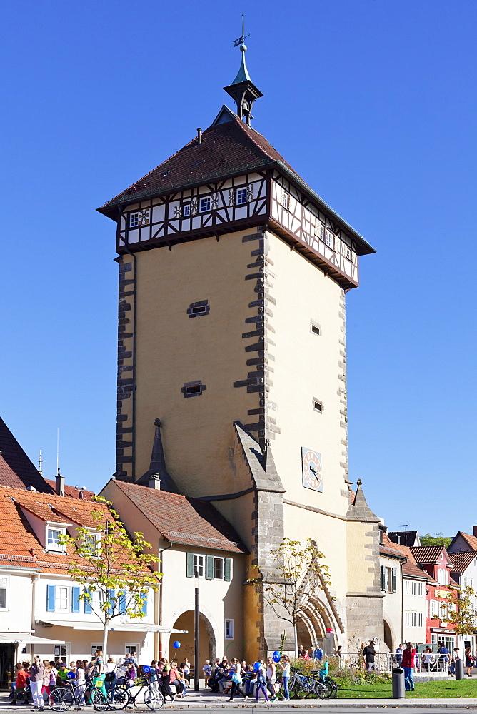 Tuebinger Tor Gate, Reutlingen, Baden Wurttemberg, Germany, Europe