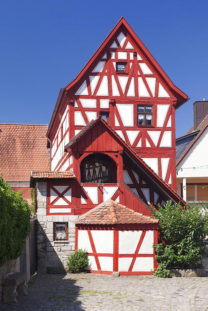 Old Bureau of Standards, Wine village of Sommerhausen, Mainfranken, Lower Franconia, Bavaria, Germany, Europe