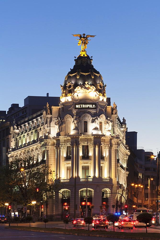 Edificio Metropolis, Architect Jules & Raymond Fevrier, Calle de Alcana, Madrid, Spain