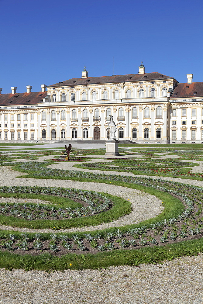 New Schleissheim Palace with Palace Gardens, Oberschleissheim, Munich, Bavaria, Germany, Europe