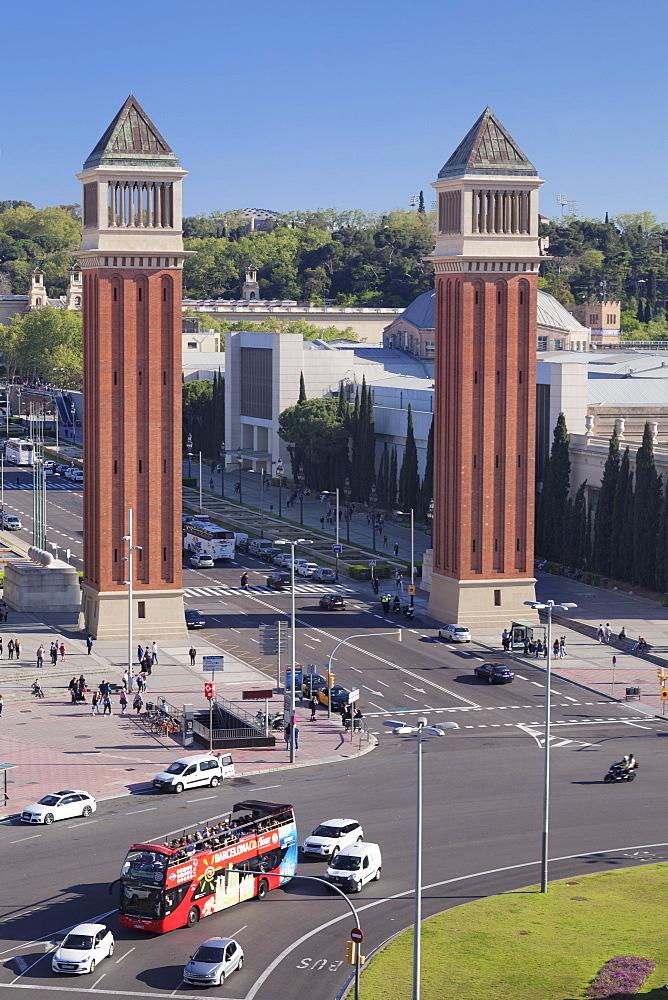 Two Venetian Towers, Placa d'Espanya (Placa de Espana), Barcelona, Catalonia, Spain - 1160-3511