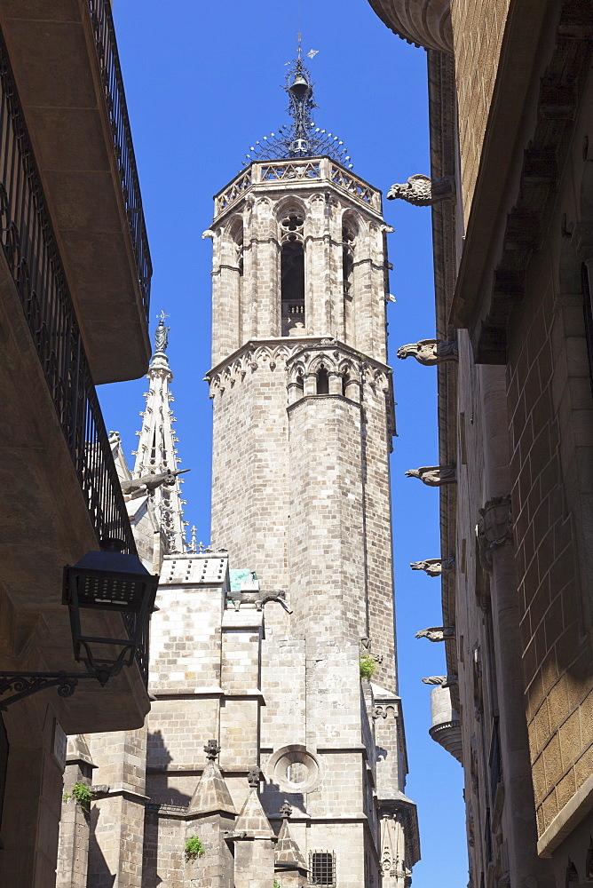 La Catedral de la Santa Creu i Santa Eulali (Barcelona Cathedral), Barri Gotic, Barcelona, Catalonia, Spain, Europe