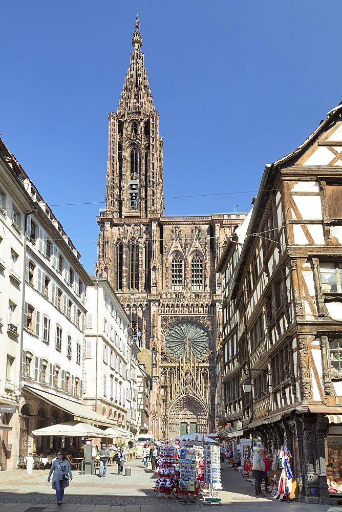 Strasbourg Cathedral Notre Dame, UNESCO World Heritage Site, Strasbourg, Alsace, France, Europe - 1160-3915