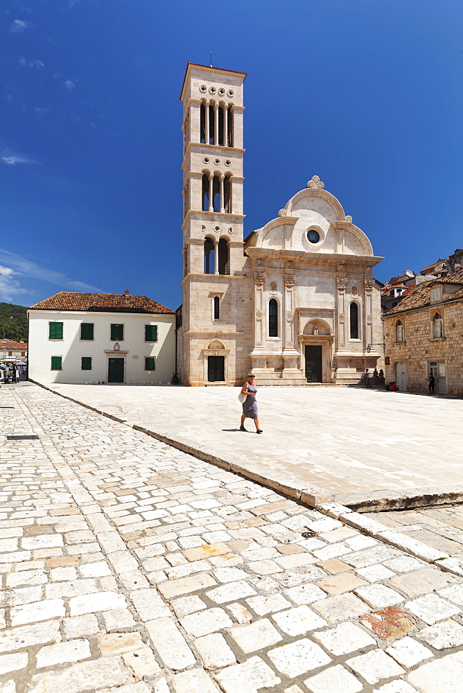 Sveti Stjepan Cathedral, Hvar, Hvar Island, Dalmatia, Croatia, Europe - 1160-4177