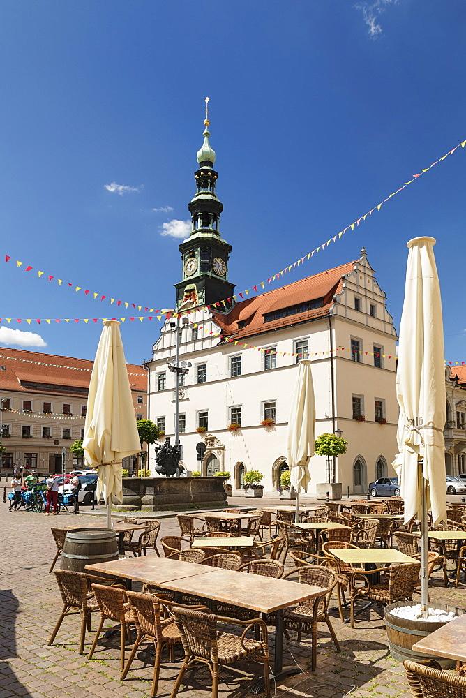 Townhall at market square, Pirna, Saxon Switzerland, Saxony, Germany, Europe - 1160-4243