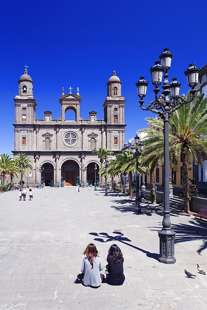 Santa Ana Cathedral, Plaza Santa Ana, Vegueta Old Town, Las Palmas, Gran Canaria, Canary Islands, Spain