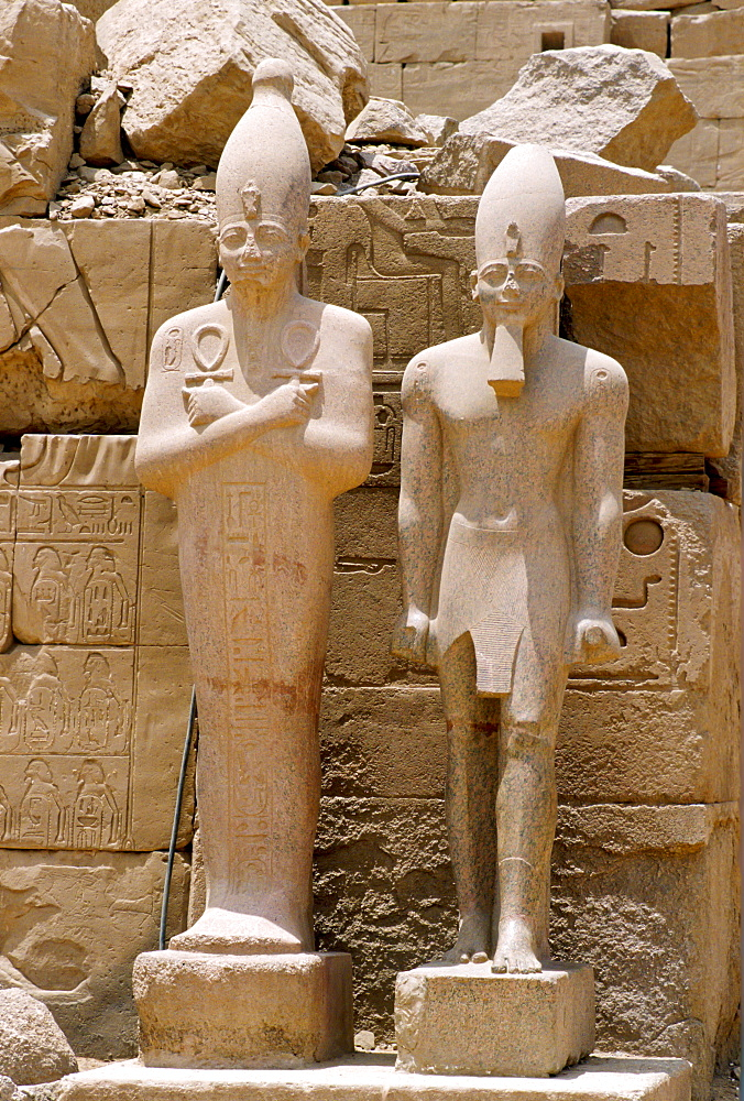 Statues at the Temple of Karnak, Egypt