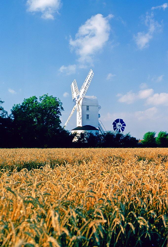 A windmill in Suffolk, England