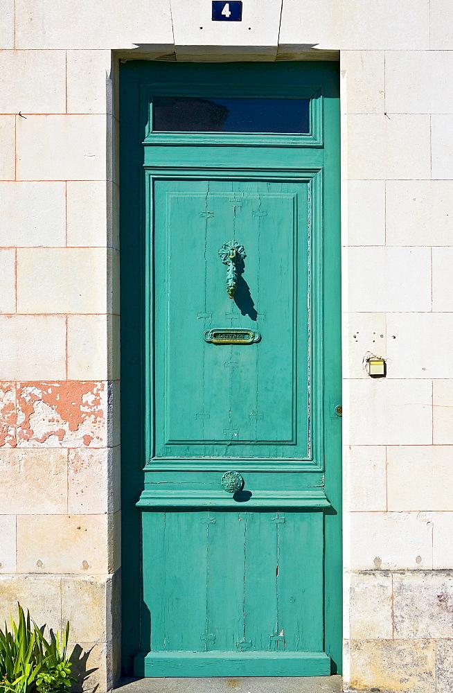 Traditional door, Ile De Re, France
