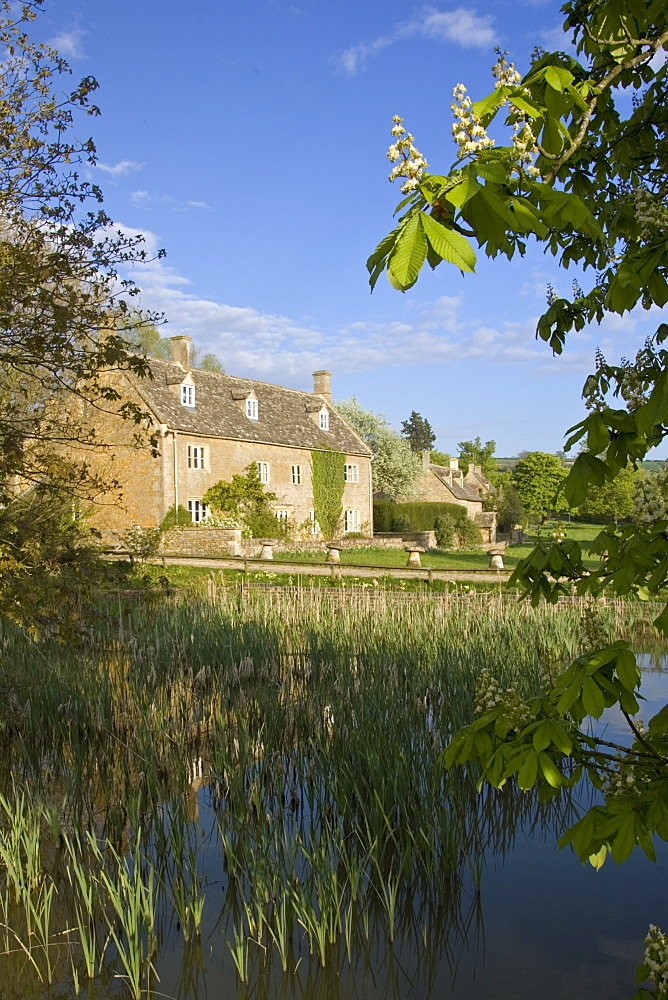 Riverside homes in the Cotswolds, Gloucestershire, England, United Kingdom