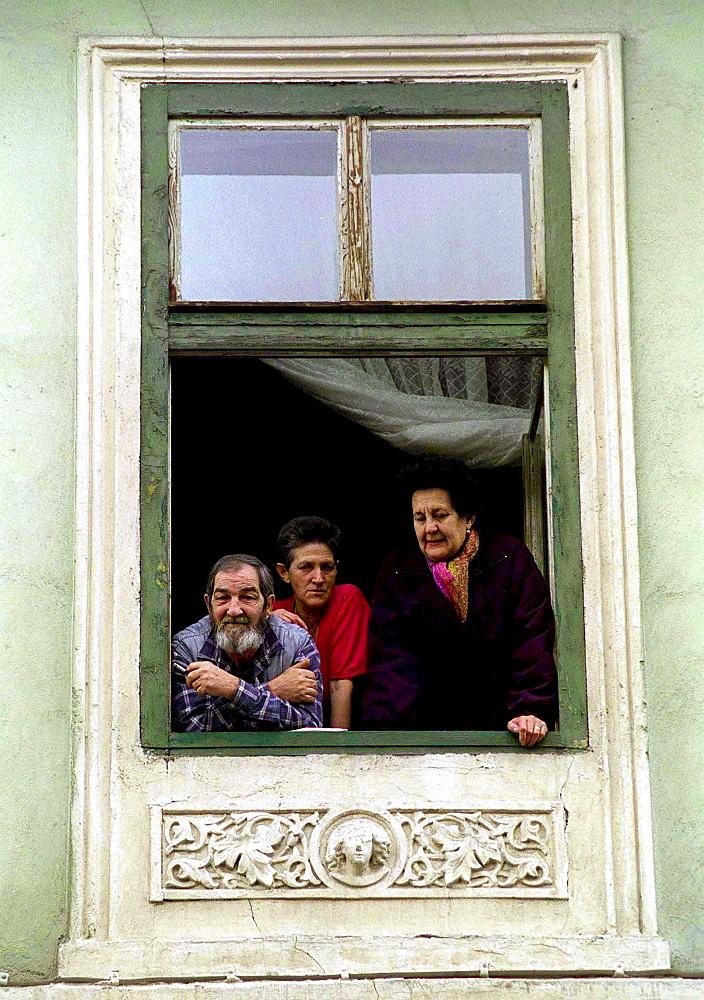 Locals in Sibiu, Romania
