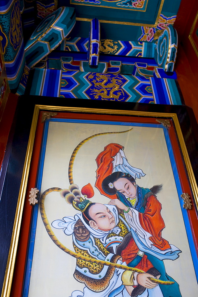 Typical ancient Chinese art, newly restored at The Summer Palace, Beijing, China