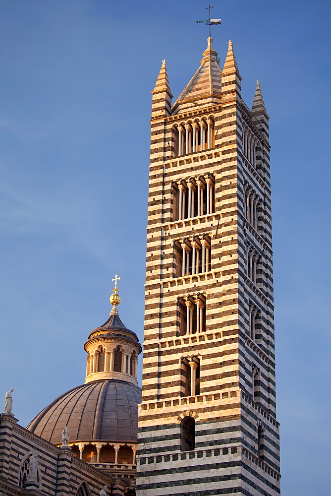 Il Duomo di Siena, the Cathedral of Siena, dome and campanile bell tower, Italy