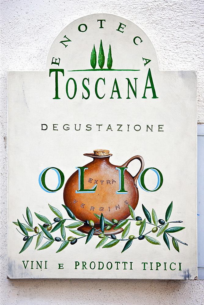 Olive oil tasting shop, enoteca Toscana in Radda-in-Chianti, Tuscany, Italy