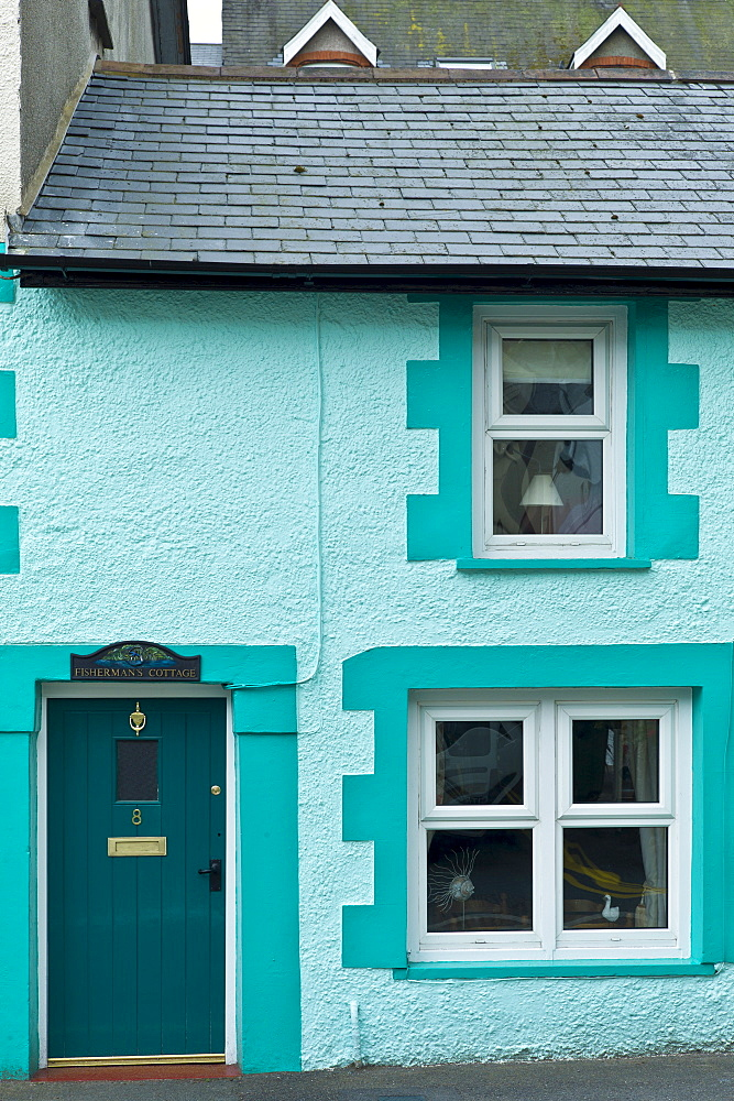 Quaint fisherman's cottage at Aberdyfi, Aberdovey, Snowdonia, Wales