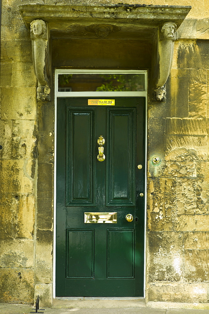 Elegant Georgian style doorway in Chipping Campden, The Cotswolds, Gloucestershire