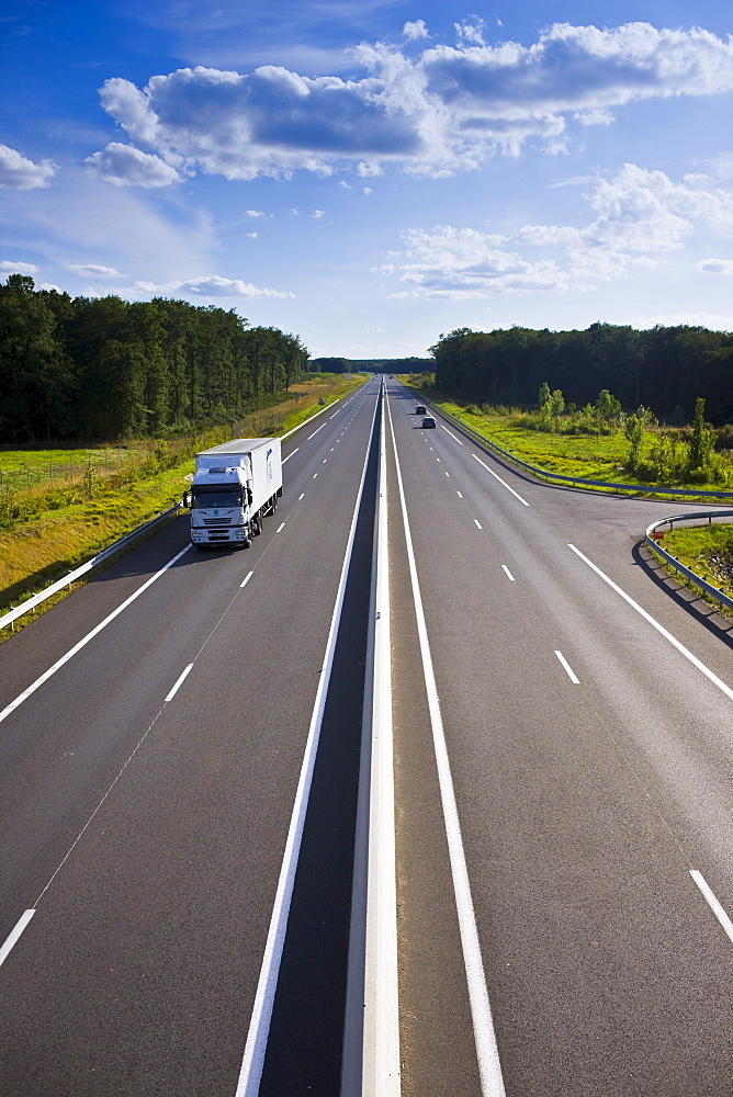New French highway near Azay le Rideau in the Loire Valley, France
