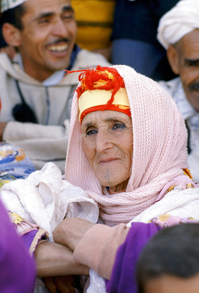 Woman at traditional festival in Marrakesh Morocco, North Africa