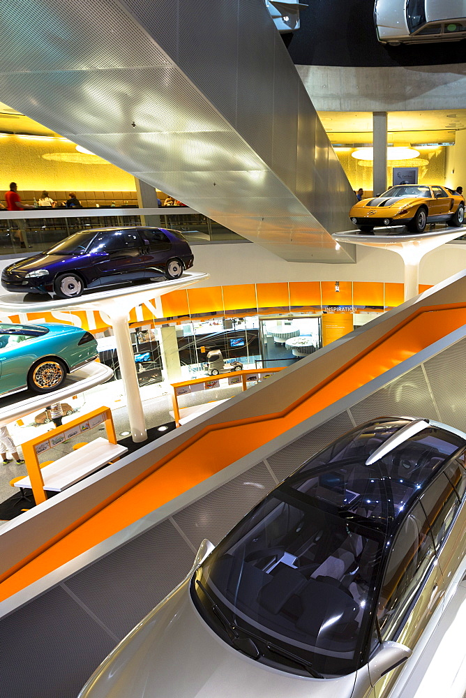 Mercedes-Benz concept cars in their museum gallery, Stuttgart, Bavaria, Germany, Europe