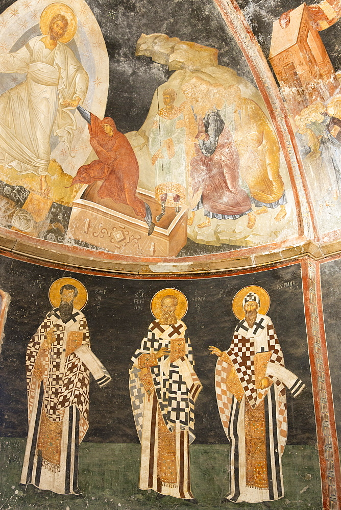 St. Savior mosaic and fresco of Jesus Christ, Church of St. Saviour in Chora, the Kariye Museum, Istanbul, Turkey, Europe