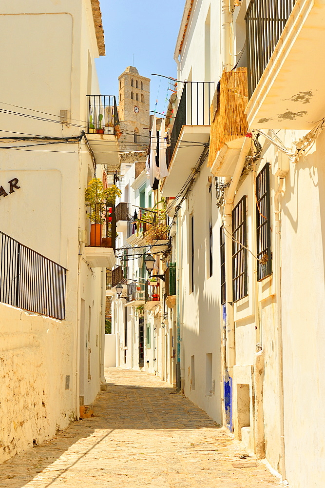 Ibiza, old town, UNESCO World Heritage Site, Ibiza, Balearic Islands, Spain, Mediterranean, Europe