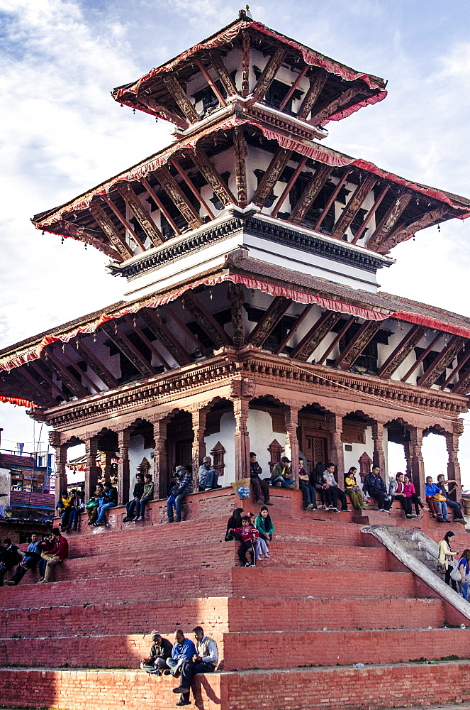 Maju Deval temple, Durbar Square, UNESCO World Heritage Site, Kathmandu, Nepal, Asia  - 1163-105