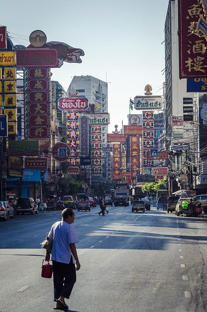 Yaowarat Road, Chinatown, Bangkok, Thailand, Southeast Asia, Asia  - 1163-23