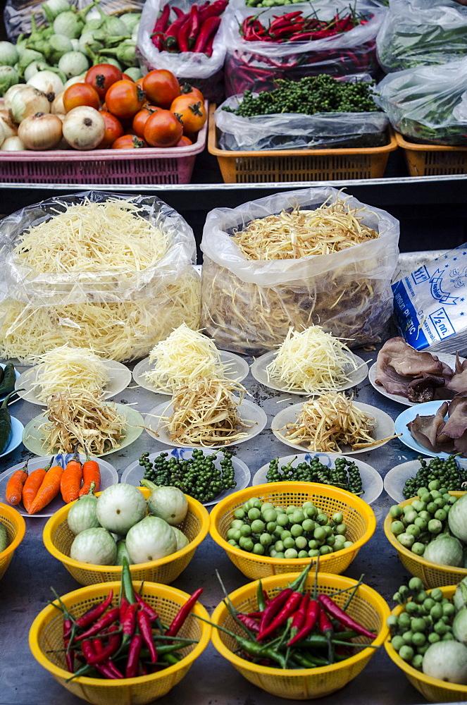 Nonthaburi Market, Bangkok, Thailand, Southeast Asia, Asia  - 1163-38