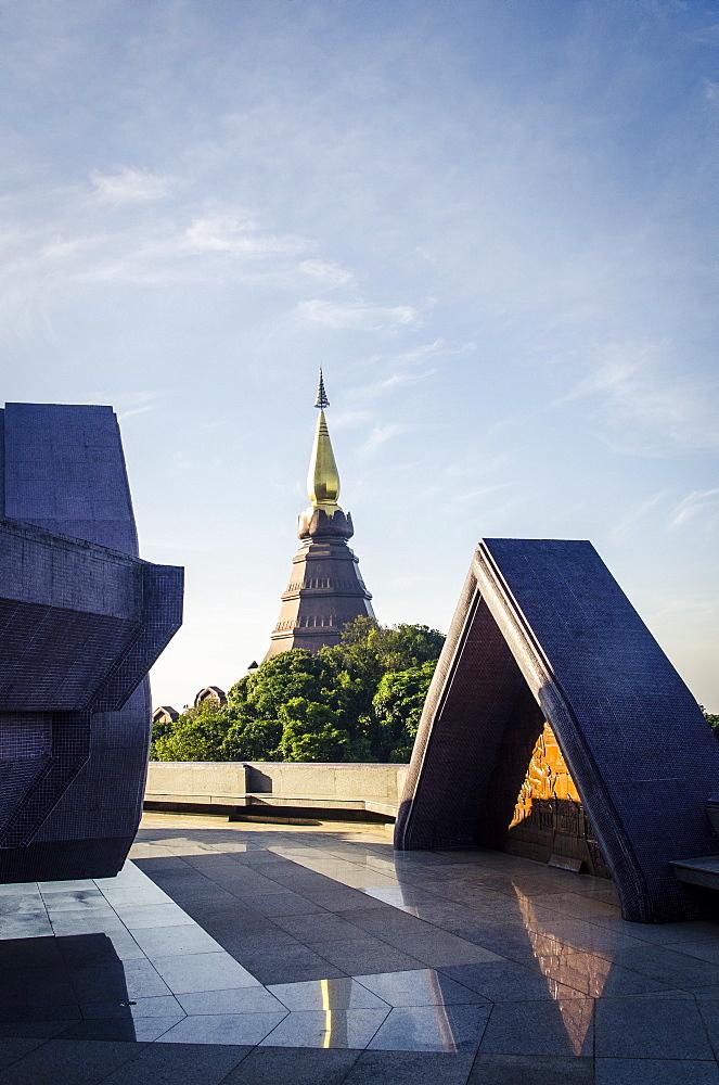 Phra Mahathat Naphamethanidon, Doi Inthanon National Park, Thailand, Southeast Asia, Asia  - 1163-53
