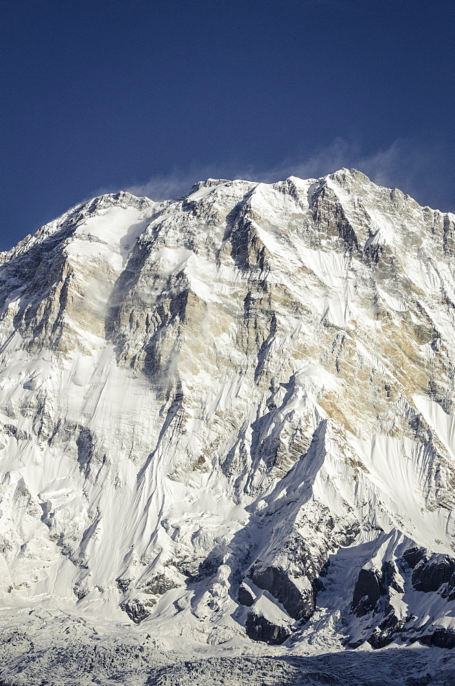 Annapurna I (South Face), 8091m, from Annapurna Base Camp, 4130m, Annapurna Conservation Area, Nepal, Himalayas, Asia  - 1163-77